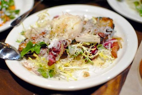 Crostone house cured pancetta, poached duck egg & parmesan