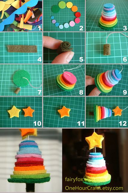 How to make a felt Chiristmas tree