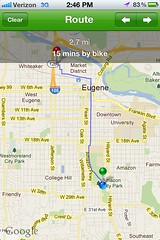 Bike Maps App -  Bike Shop Distance and Time