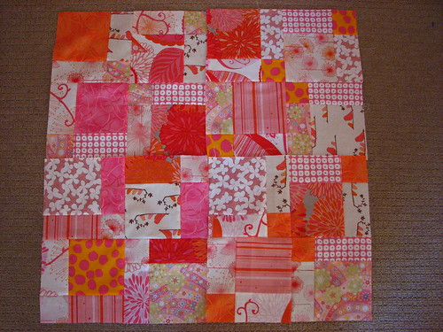 Disappearing Pink Patch - First Four Blocks