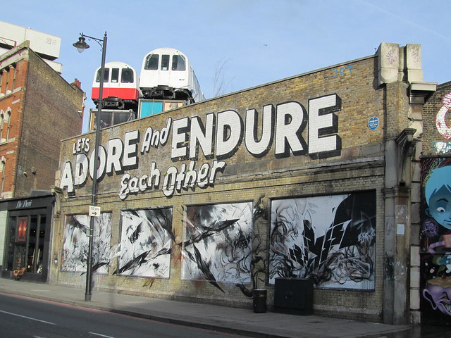 Street Art & Graffiti in Shoreditch - Let's Adore & Endure Each Other