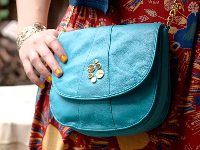 Un-Teal the End of Time Bag, Magnes Sisters via ModCloth