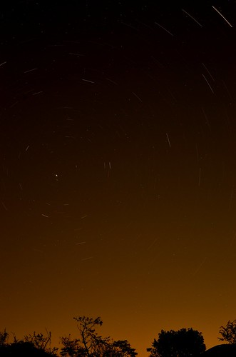 Pole star trails