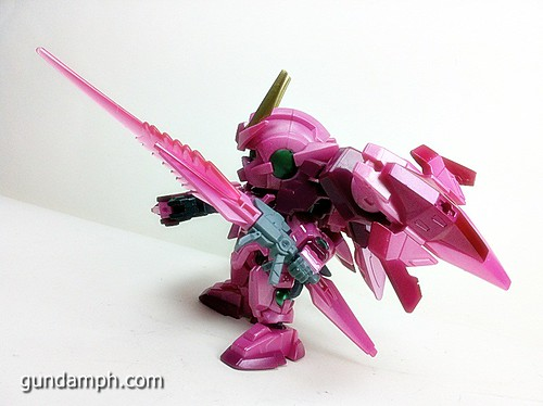 SD Gundam Online Capsule Fighter Trans Am 00 Raiser Rare Color Version Toy Figure Unboxing Review (67)
