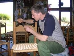 Repairing an oak chair slat