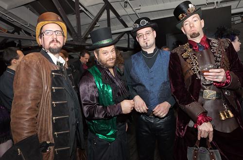 Steampunk gentlemen guests