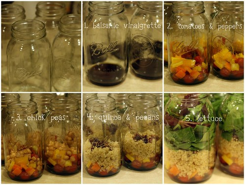 salad in a jar: break it down