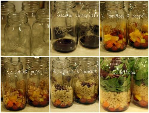 salad in a jar: break it down