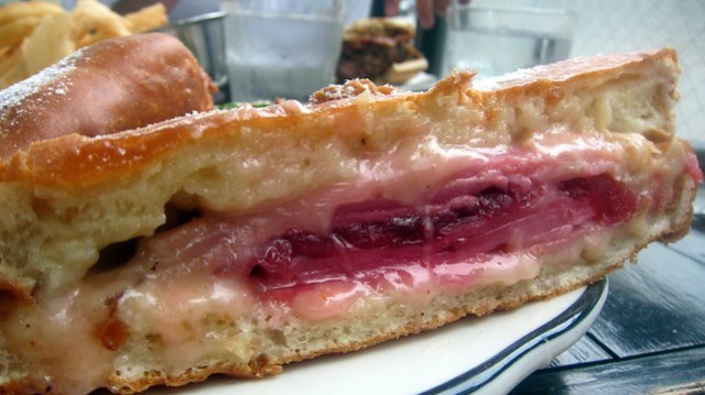 a monte cristo sandwich at the bowery