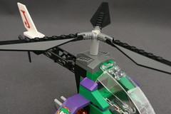 6863 Batwing Battle Over Gotham City - Joker's Helicopter 6