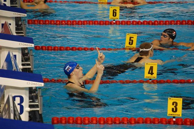 Izotov after winning the Rijeka 2008 men's 200 free