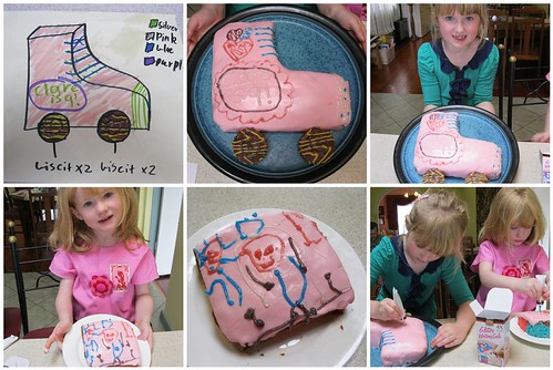decorating the cake mosaic