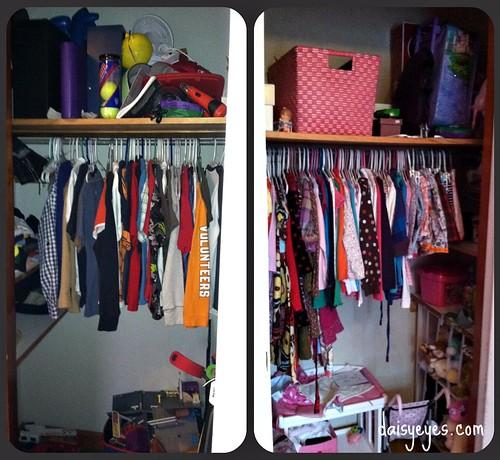 boy/girl closets before