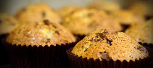 11/366: Banana & chocolate chip muffins by MeltedMoments