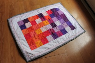 Purples and Oranges mosaic by bryanhousequilts