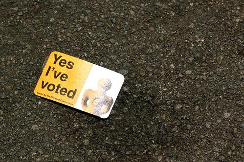Saturday: exercising my democratic right