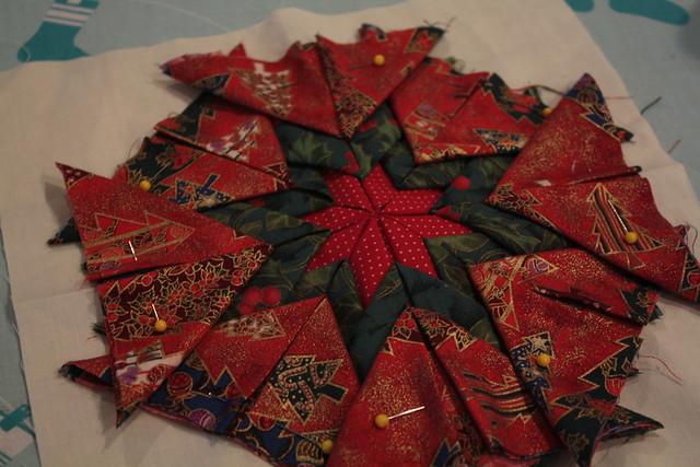 Folded stars hot pads