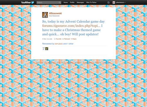 Twitter Advent Calendar day 10, Games & Advent, pt. 3