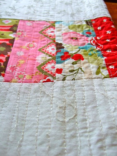 quilt back - unpicking