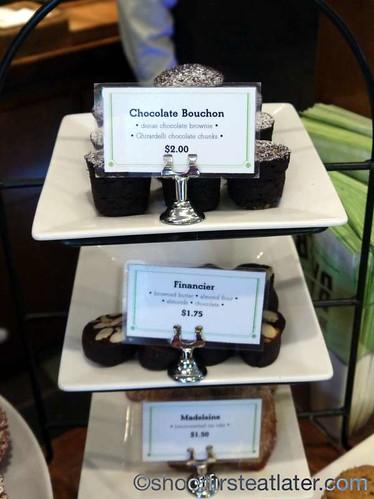 Bouchon Bakery- chocolate bouchon, financier, madelaine