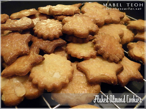Flaked almond cookies