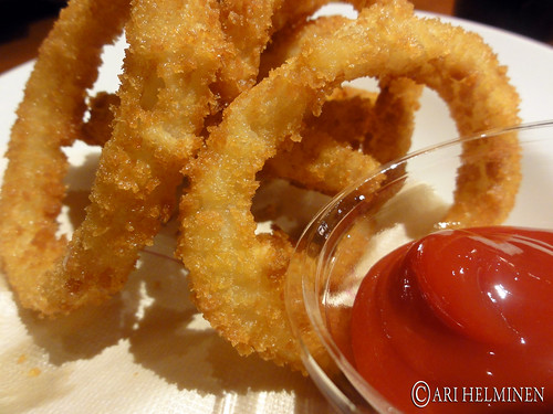 Wolfgang puck and it's onion rings !