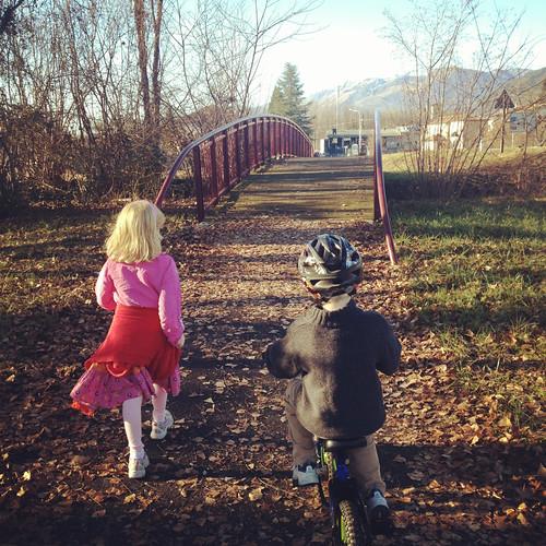 On a walk/ride