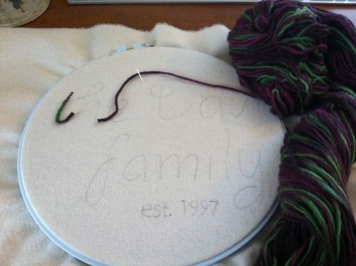 Jan '12 stitch along: progress