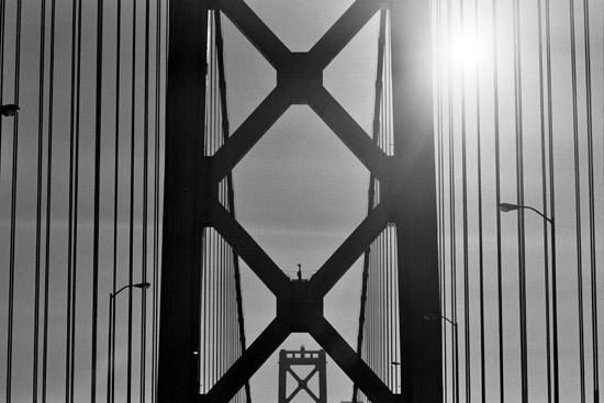 The Bay Bridge en route to San Francisco