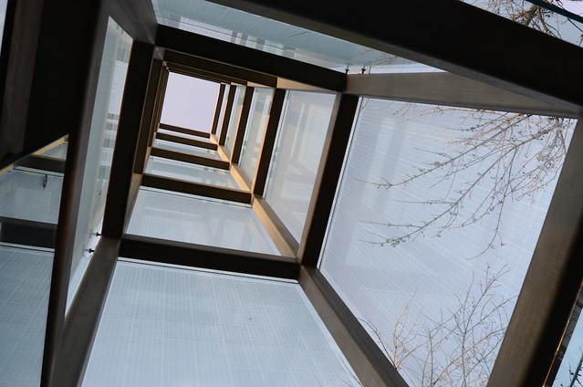 Looking up into the memorial