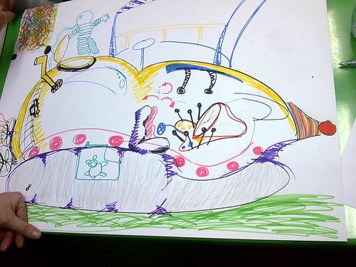 Dibujo de la nave espacial