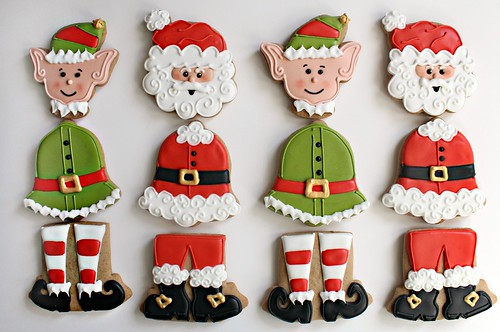 Santa BELL-y Cookies from Sweet Sugarbelle