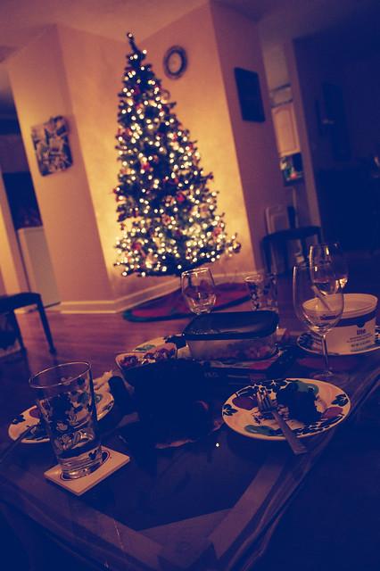tree & smorgasbord of junk food