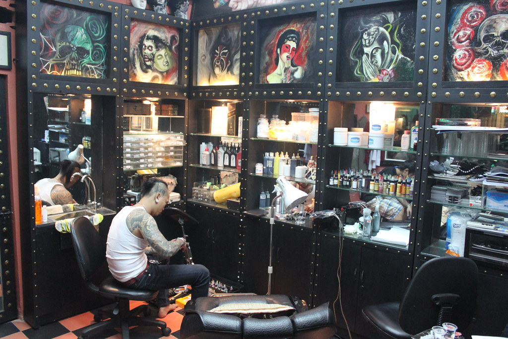 saigon cool posters tattoos and chicken girls interview with punk rocker and bar owner ben. Black Bedroom Furniture Sets. Home Design Ideas