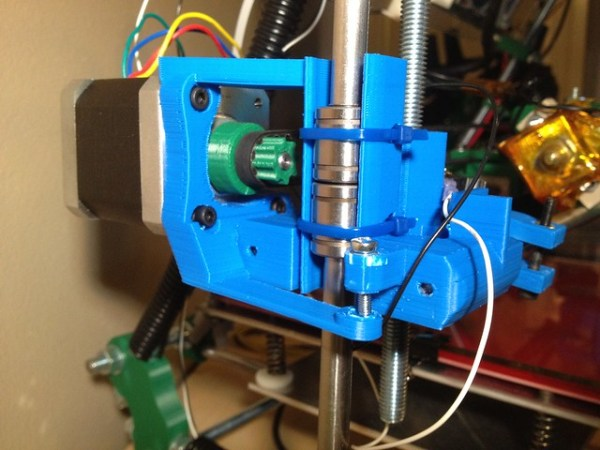 X-axis motor mount with LM8UUs