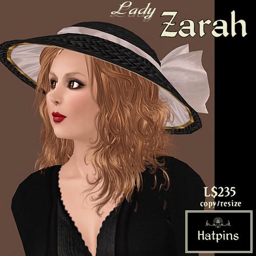 Lady Zarah Hat - Ivory