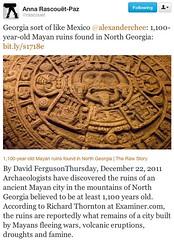 Mayas in north Georgia