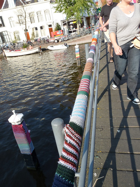 Urban knitting - railing