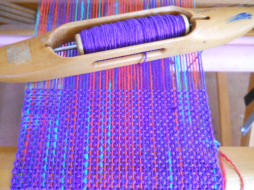 scarf on loom
