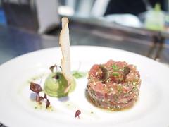 Tuna tartare, avocado and sesame.