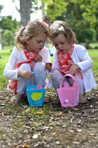 Juliet and Claire at the Easter Egg Hunt
