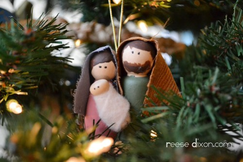 Mary and Joseph Ornament