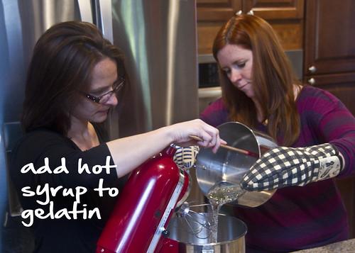 add syrup to gelatin