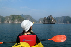 Emily Kayaking in Halong Bay