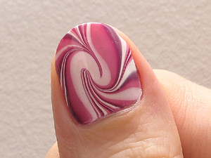 Water marble thumb closeup
