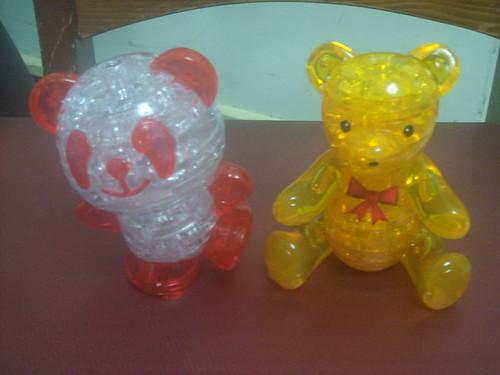 3D水晶立體積木拼圖_小熊+熊貓3
