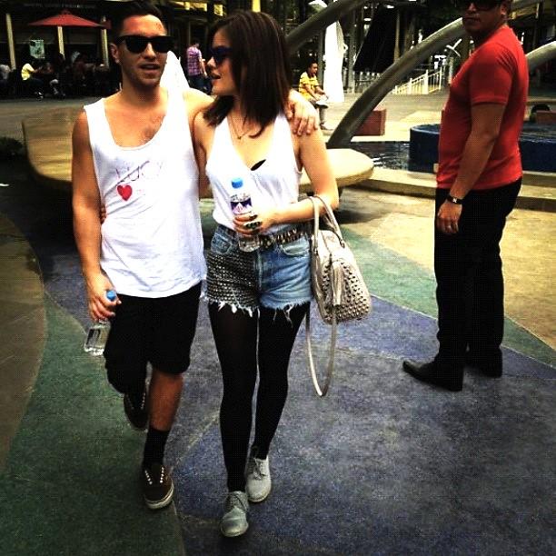 Scott Cunha and Lucy Hale at Bonifacio High Street