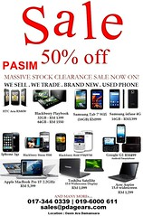 PDA Gears Sale 50% off 5 - 31 Dec 2011 (1)