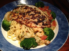 Red Lobster - Talapia with black peppercorn and pasta