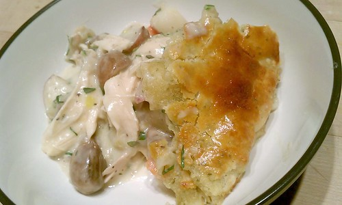 10 Minute Gnocchi with Bacon, Peas, and Roquefort Cream Sauce (and Tofu, and Pot Pie) (3/3)